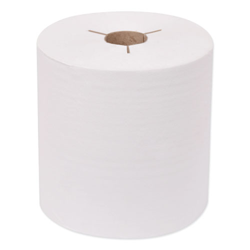 """Tork® Universal Hand Towel Roll, Notched, 7.5"""" x 630 ft, White, 6 Rolls/Carton"""