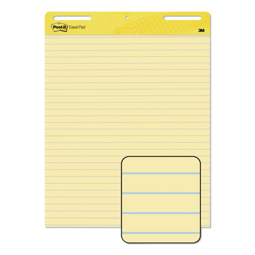Self-Stick Easel Pads, 25 x 30, Yellow, 30 Sheets, 2/Carton | by Plexsupply