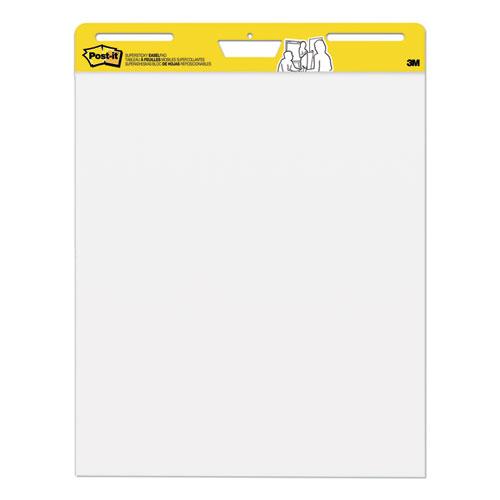 Self-Stick Easel Pads, 25 x 30, White, 30 Sheets, 2/Carton | by Plexsupply
