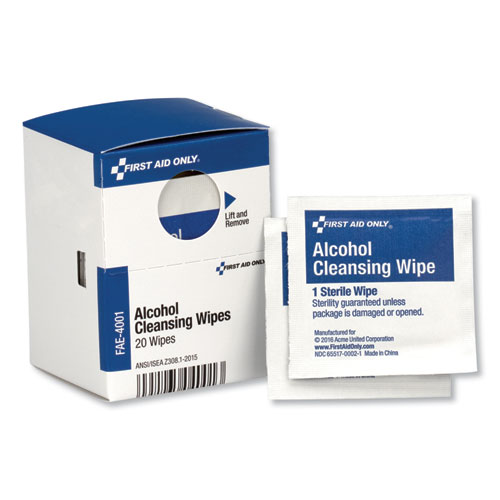 SmartCompliance Alcohol Cleansing Pads, 20/Box