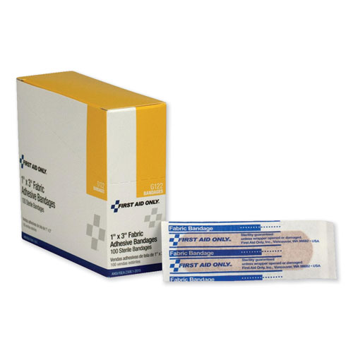 Fabric Bandages, 1 x 3, 100/Box