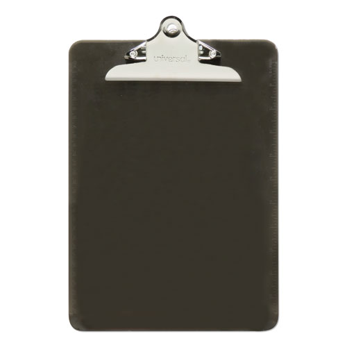 Plastic Clipboard w/High Capacity Clip, 1, Holds 8 1/2 x 12, Translucent Black