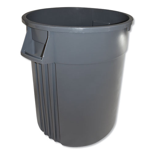 Advanced Gator Waste Container, Round, Plastic, 44 gal, Gray