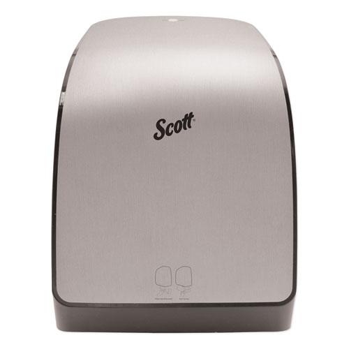 Scott® Pro Electronic Hard Roll Towel Dispenser, 12.66 x 9.18 x 16.44, Brushed Silver