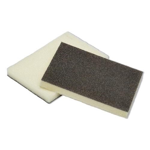 7920006555290, SKILCRAFT Heavy-Duty Scouring Pad Sponge, 3 x 4.5, Yellow/Green, Dozen