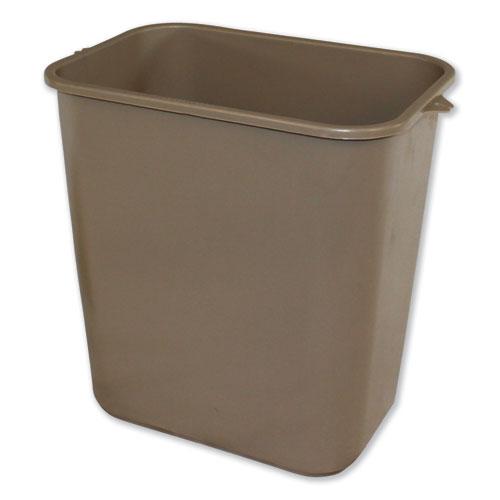 Impact® Soft-Sided Wastebasket, Rectangular, Polyethylene, 28 qt, Black