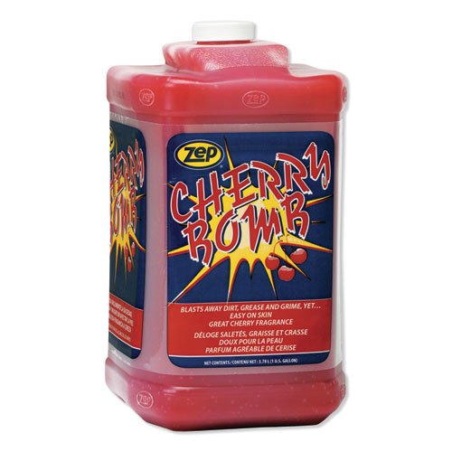 Cherry Bomb Hand Cleaner, Cherry Scent, 1 gal Bottle, 4/Carton