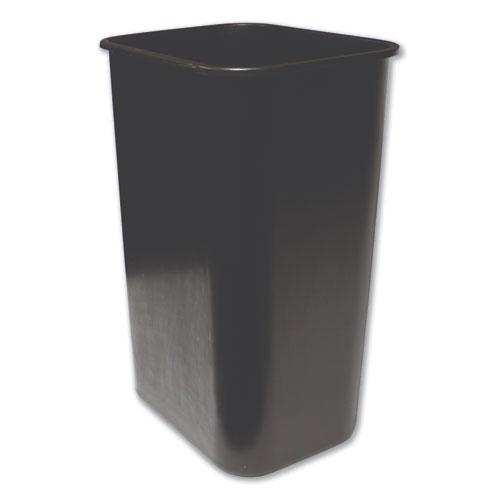 Impact® Soft-Sided Wastebasket, Rectangular, Polyethylene, 41 qt, Black