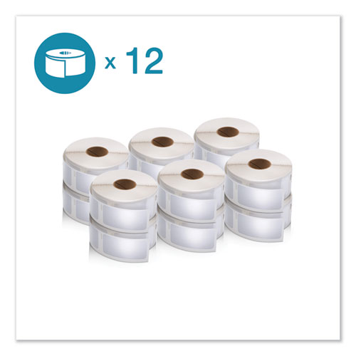 LW Multipurpose Labels, 1 x 2.13, White, 500/Roll, 12 Rolls/Pack