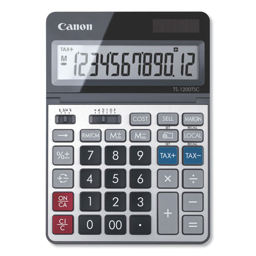 Canon® TS-1200TSC Desktop Calculator, 12-Digit LCD