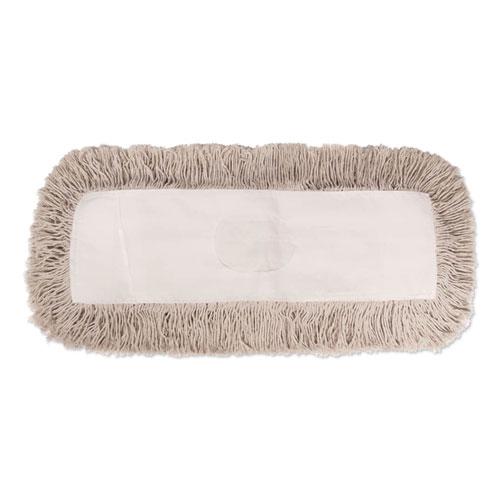 Industrial Dust Mop Head, Hygrade Cotton, 60w x 5d, White | by Plexsupply
