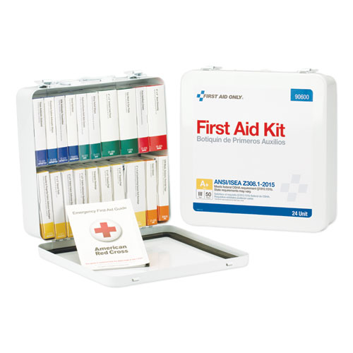 Unitized ANSI Class A Weatherproof First Aid Kit for 50 People, 24 Units