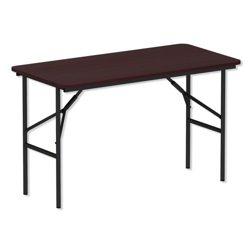 Wood Folding Table, Rectangular, 48w x 23 7/8d x 29h, Mahogany