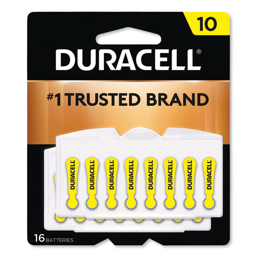 Hearing Aid Battery, 10, 16/Pack