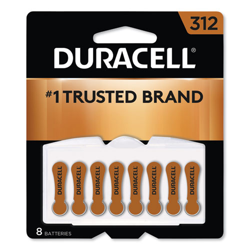 Hearing Aid Battery, 312, 8/Pack