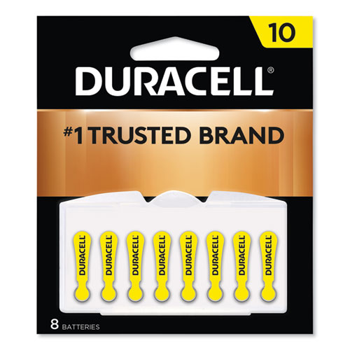 Hearing Aid Battery, #10, 8/Pack | by Plexsupply