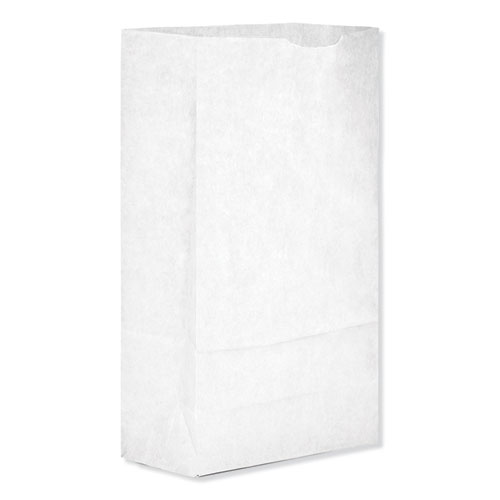 """Grocery Paper Bags, 35 lbs Capacity, #6, 6""""w x 3.63""""d x 11.06""""h, White, 500 Bags"""