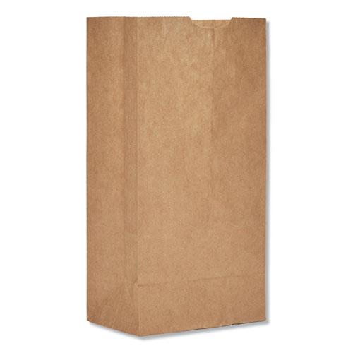 "Grocery Paper Bags, 30 lbs Capacity, #4, 5""w x 3.33""d x 9.75""h, Kraft, 500 Bags BAGGK4500"