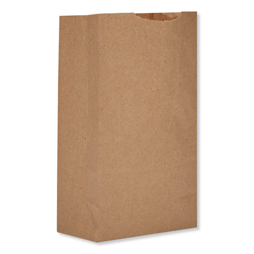 "Grocery Paper Bags, 52 lbs Capacity, #2, 8.13""w x 4.25""d x 9.75""h, Kraft, 500 Bags BAGGX2500"