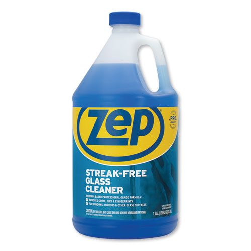 Zep Commercial® Streak-Free Glass Cleaner, Pleasant Scent, 1 gal Bottle