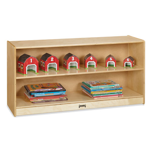 Adjustable Mobile Straight-Shelves, Toddler, 48w x 15d x 24.5h, Birch
