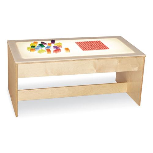 Large Light Table, 42.5w x 22.5d x 18.5h, White