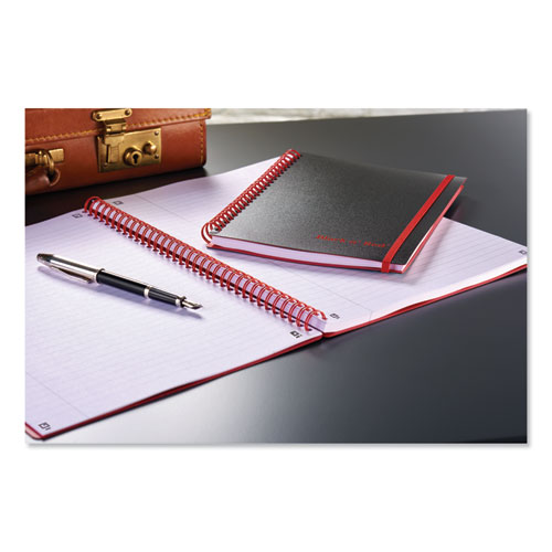 Twin Wire Poly Cover Notebook, Wide/Legal Rule, Black Cover, 11.75 x 8.25, 70 Sheets | by Plexsupply
