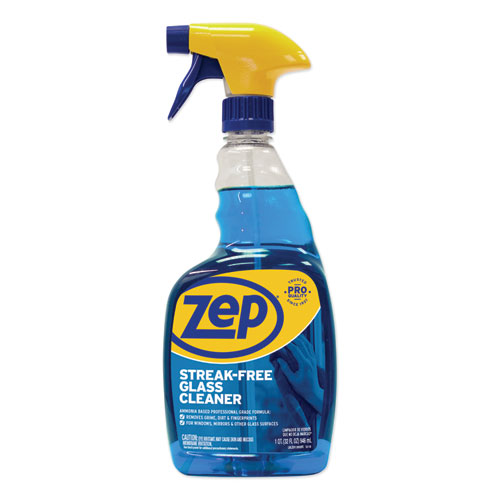 Zep Commercial® Streak-Free Glass Cleaner, Pleasant Scent, 1 gal Bottle, 4/Carton