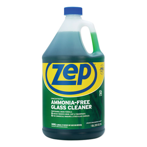 Zep Commercial® Ammonia-Free Glass Cleaner, Pleasant Scent, 1 gal Bottle, 4/Carton
