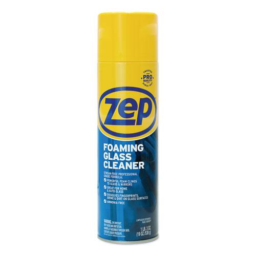 Zep Commercial® Foaming Glass Cleaner, Pleasant Scent, 19 oz Bottle, 12/Carton