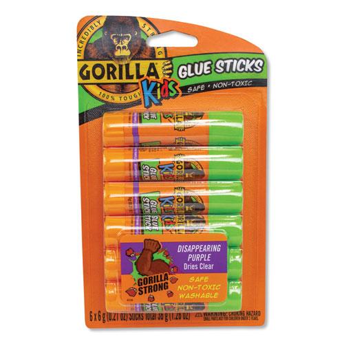School Glue Sticks, 0.21 oz, Dries Clear, 6/Pack