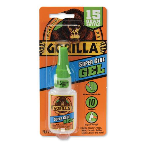 Super Glue Gel, 0.53 oz, Dries Clear, 4/Carton