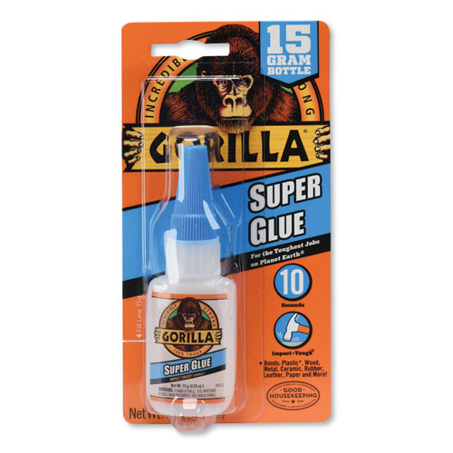 Super Glue, 0.53 oz, Dries Clear, 4/Carton