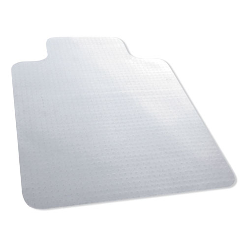 Carpet Surface Chair Mat, Lip, 36 x 48, Clear