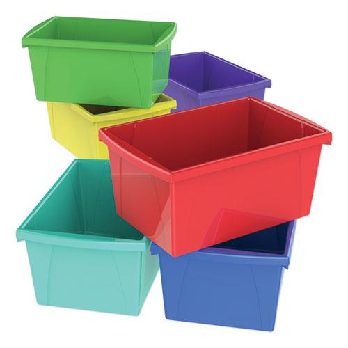 "Storage Bins, 5.5 gal, 10.63"" x 15.63"" x 8"", Randomly Assorted Colors"