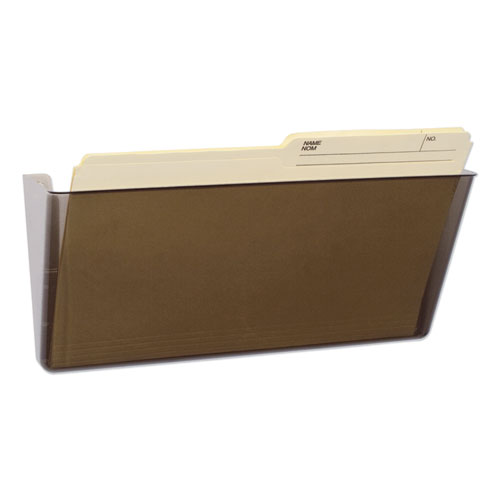 Unbreakable Magnetic Wall File, Letter/Legal, 16 x 7, Single Pocket, Smoke | by Plexsupply