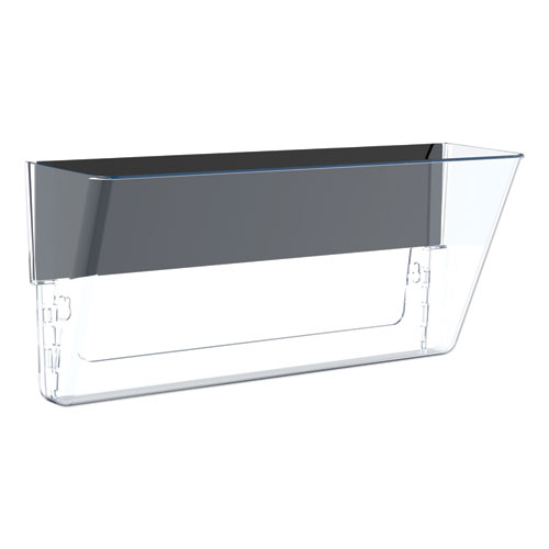 Unbreakable Magnetic Wall File, Letter/Legal, 16 x 7, Single Pocket, Clear | by Plexsupply