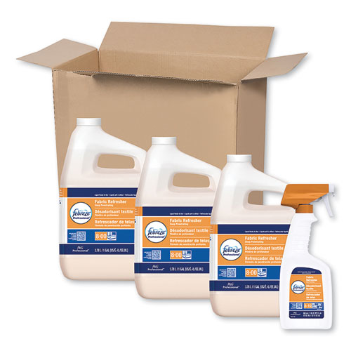 Professional Deep Penetrating Fabric Refresher, Fresh Clean, 1 gal, 3/Carton | by Plexsupply