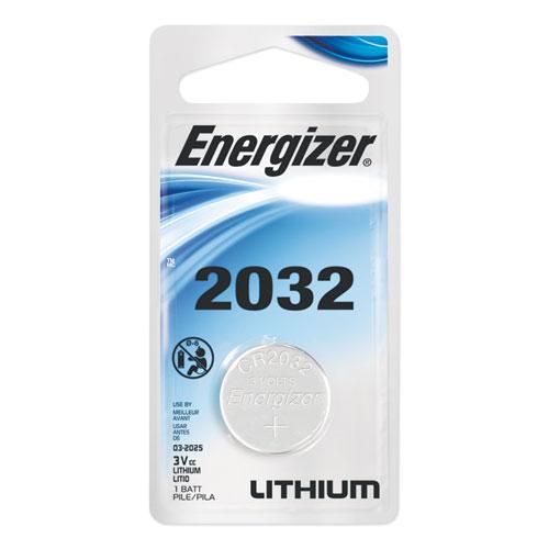 Energizer® 2032 Lithium Coin Battery, 3V, 2/Pack