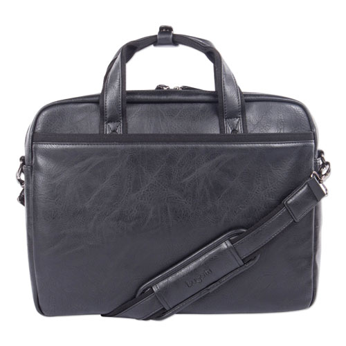 "Valais Executive Briefcase, Holds Laptops 15.6"", 4.75"" x 4.75"" x 11.5"", Black"