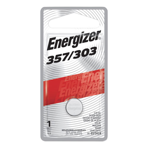 357/303 Silver Oxide Button Cell Battery, 1.5 V