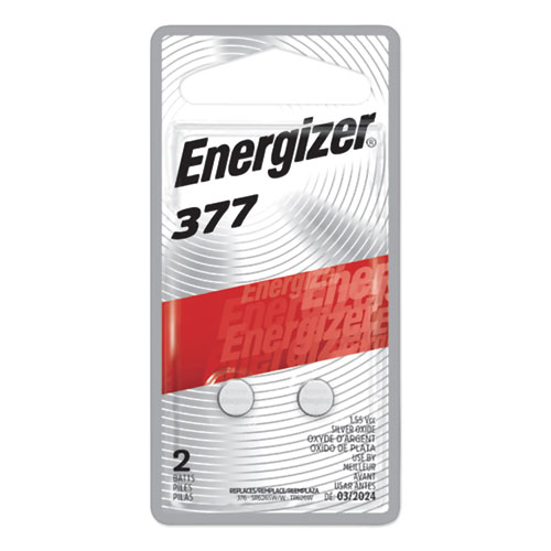 Energizer® 377 Silver Oxide Button Cell Battery, 1.5V, 2/Pack