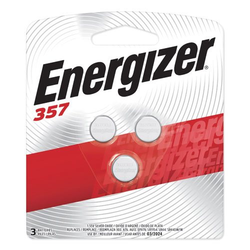 Energizer® 357/303 Silver Oxide Button Cell Battery, 1.5V