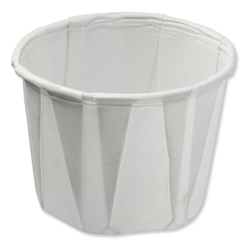 Paper Souffle Portion Cups, 0.75 oz, White, 250/Sleeve, 20 Sleeves/Carton