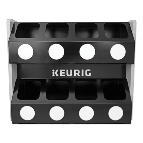 Premium K-Cup Pod Storage Rack 8-Sleeve, 16 x 21 x 18, Black