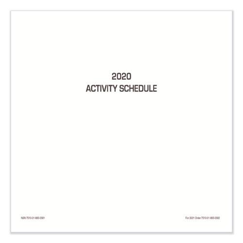 7540016650581 Activity Schedule, 11 x 9, 2020, 10/Pack
