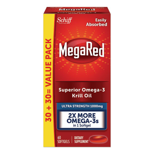 Ultra Strength Omega-3 Krill Oil Softgel, 60 Count
