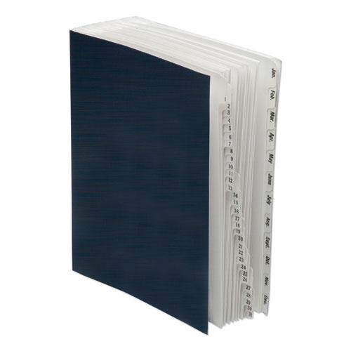7530016819292 SKILCRAFT File Sorter, 1-31/Jan-Dec, Letter, Pressboard, Blue/Beige