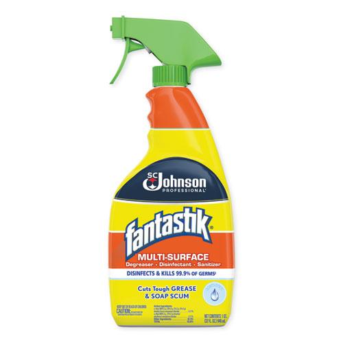 Fantastik® Multi-Surface Degreaser, Disinfectant, Sanitizer, Pleasant Scent, 1 Gallon Bottle, 4/Carton