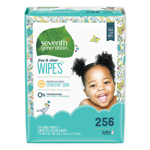 Free  Clear Baby Wipes, Refill, Unscented, White, 256/Pack